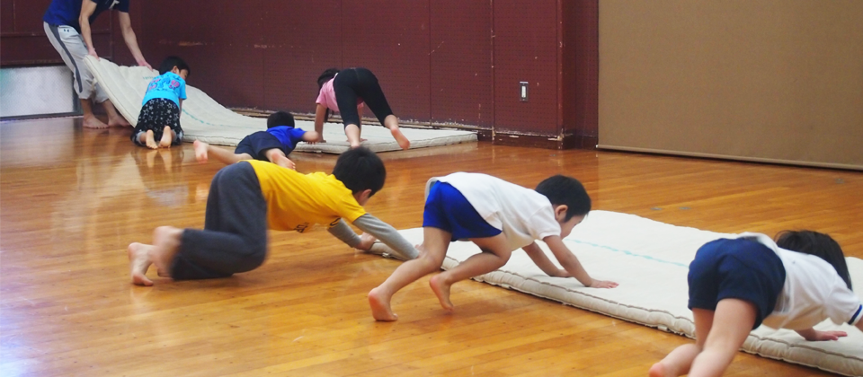 マット運動。体操お片付け